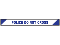 Police do not cross barrier tape