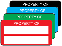 Property asset label, not numbered, polyester