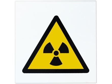 Radiation hazard symbol safety sign.