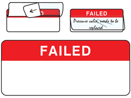 Failed write and seal labels.