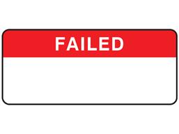 Failed label equipment label.