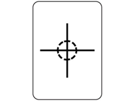 Centre of gravity packaging symbol label