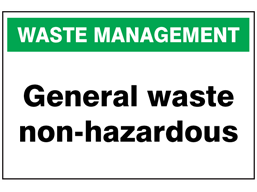 General waste non-hazardous sign.