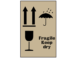 Combination fragile, keep dry and this way up stencil