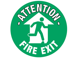 Attention fire exit floor marker