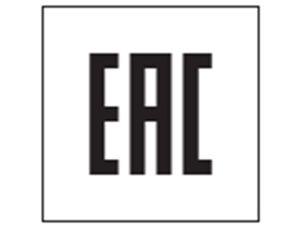 EAC001 Eurasian conformity mark labels.