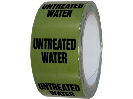 Untreated water pipeline identification tape.