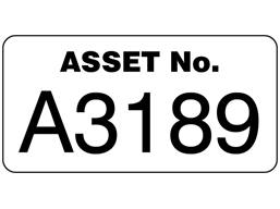 Assetmark jumbo serial number label, 40mm x 80mm