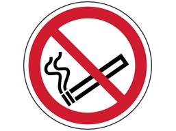 No smoking symbol floor graphic marker.