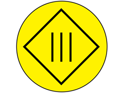 Protective insulation, class 3 symbol label.