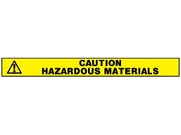 Caution hazardous materials barrier tape