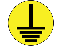 Earth symbol label.