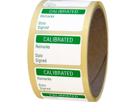 Calibrated quality assurance label