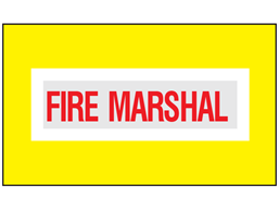 Fire marshal safety armband