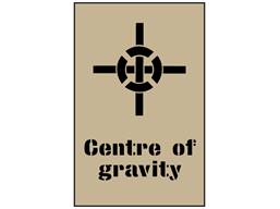 Centre of gravity stencil