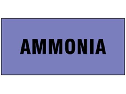 Ammonia pipeline identification tape.