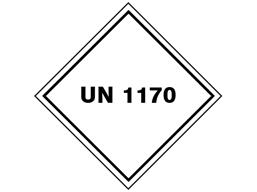 UN 1170 (Isopropyl alcohol, flammable liquid) label.