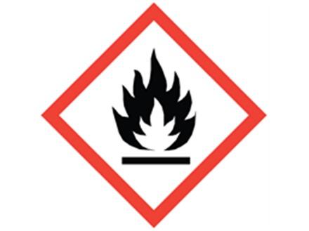 GHS flammable hazard label