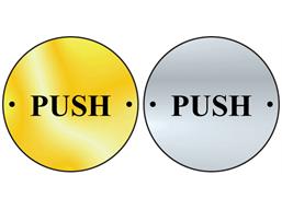 Push symbol door sign.