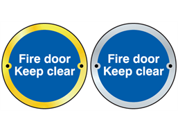 Fire door keep clear symbol door sign.