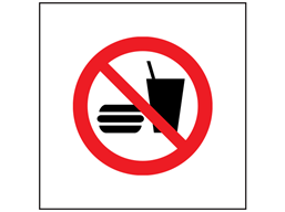 No eating or drinking symbol safety sign.