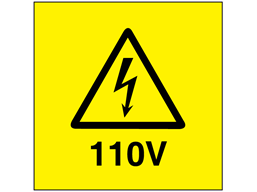 110V Electrical warning label