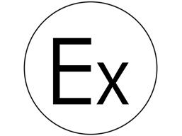 Explosion protect symbol label