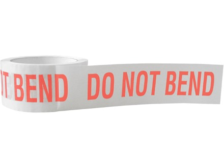Do not bend tape