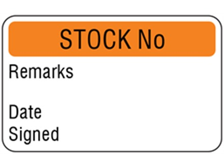 Stock number quality assurance label