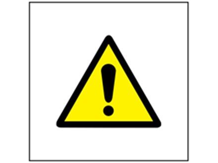 Caution symbol safety sign.