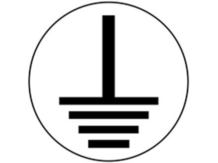 Earth symbol label (black on white)