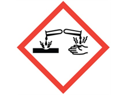 GHS corrosive hazard label