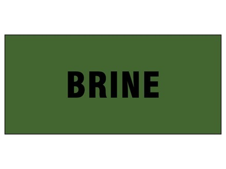 Brine pipeline identification tape.