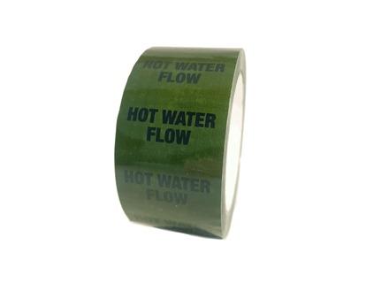 Hot water flow pipeline identification tape.