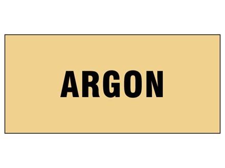 Argon pipeline identification tape.