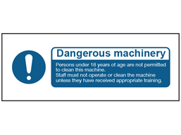 Dangerous machinery safety label.
