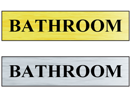 Bathroom public area sign