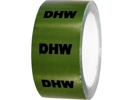 D.H.W pipeline identification tape.