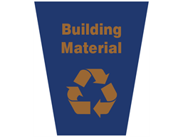 Building material waste sack