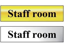 Staff room metal doorplate
