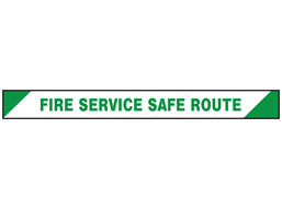 Fire service, safe route barrier tape