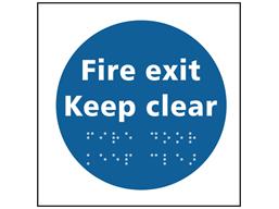 Fire door Keep clear sign.
