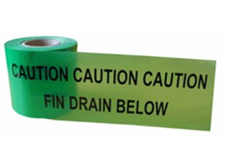 Caution fin drain below tape.