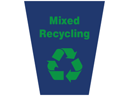 Mixed recycling waste sack