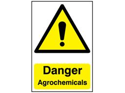 Danger, Agrochemicals safety sign.