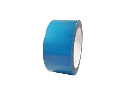 Plain delphinium blue pipeline identification tape.