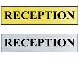 Reception public area sign