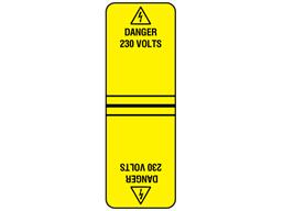 Danger 230 volts cable wrap label