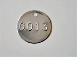 Embossed Tinplate Tags, 51mm diameter