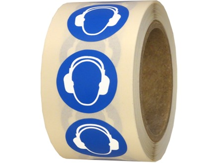 Ear protection symbol labels.